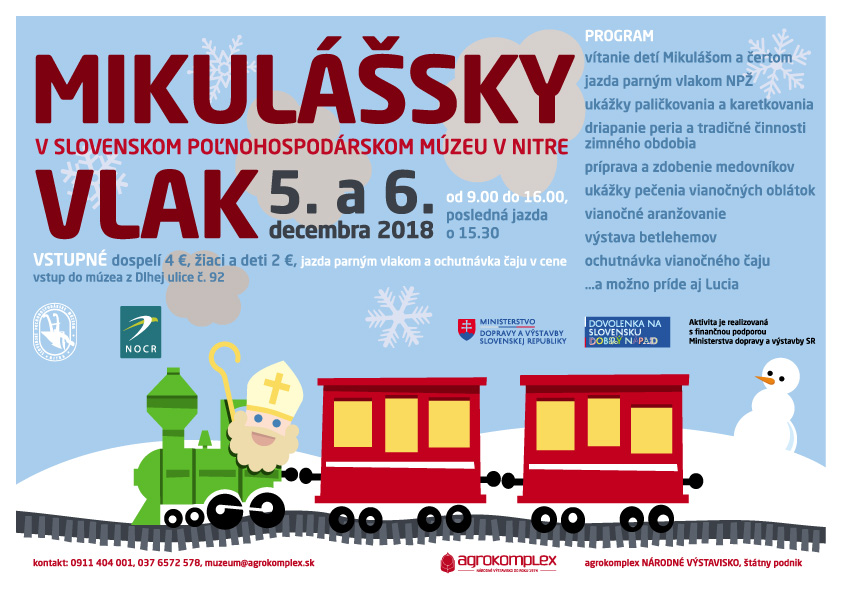 Mikulášsky vlak Agrokomplex Nitra