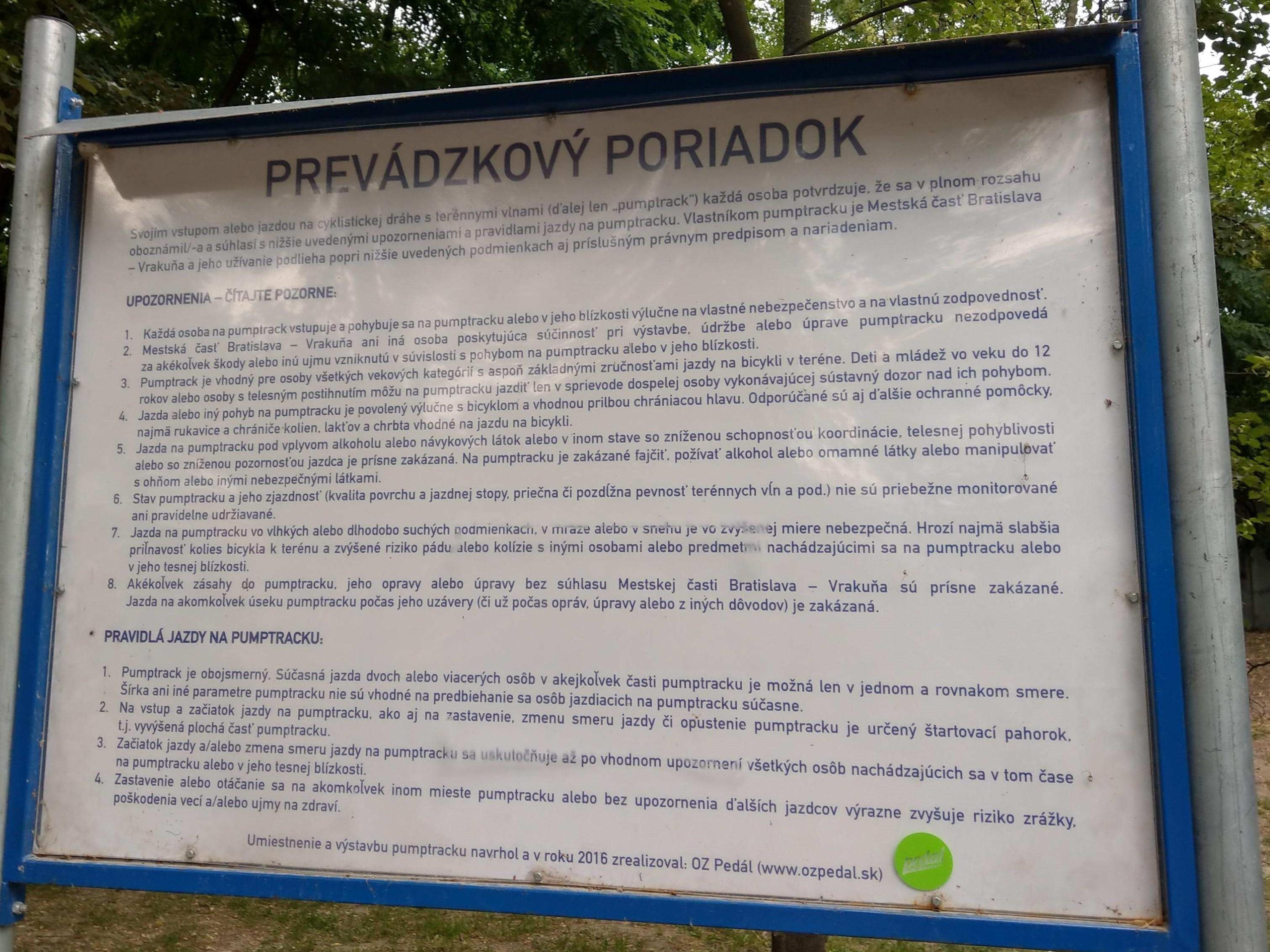 Pumptrack Vrakunsky lesopark (2)