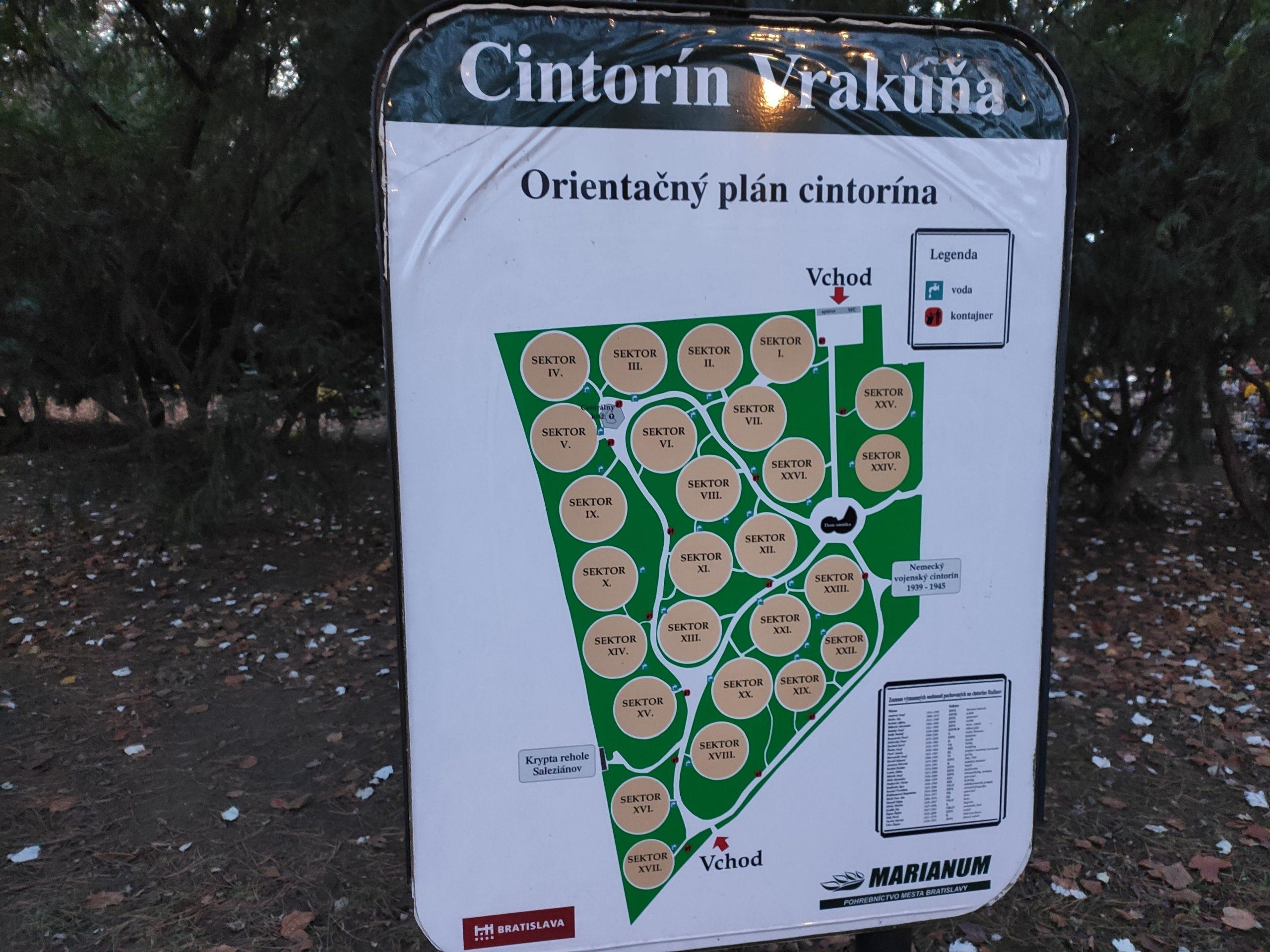 mapa cintorin vrakuna
